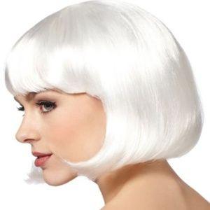 Platinum White Blonde Wig Costume Halloween